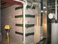 Fotress Grid Straps for corner repairs and  stabalizing  corner walls
