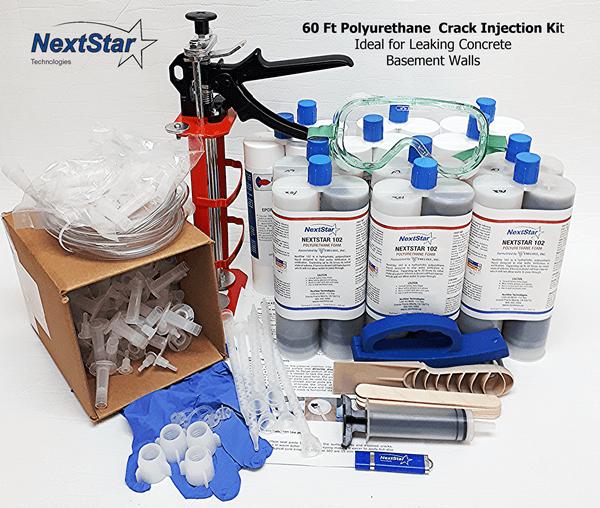 60 ft DIY Polyurethane Foundation Crack Repair kit
