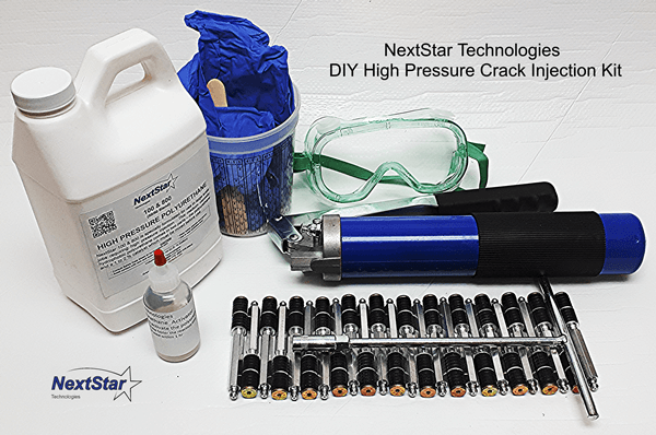 High Pressure DIY Foundation Crack Injection Repair kit w/ Packers