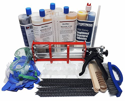 8-15 ft Epoxy & Carbon fiber Stitch Staple kit
