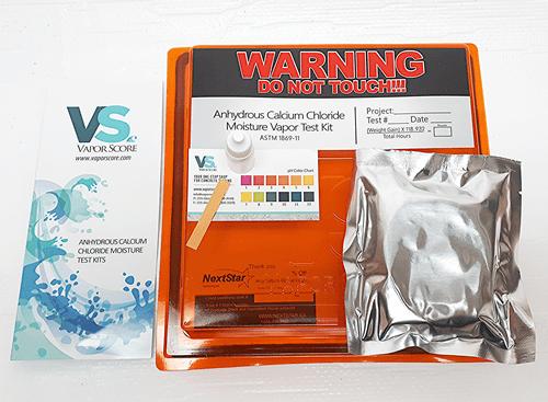 Moisture Vapor Emission Calcium Chloride Test Kit for Concrete