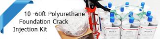 10-60ft Polyurethane Concrete Crack Foundation injection kit