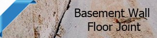 Basement floor wall Joint