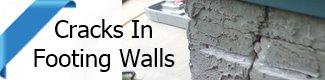 Repair of broken concrete footing walls