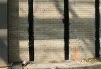 Repair bowed horizontal cracked wall with cabon fiber and kevlar straps by fortress stabalization systems