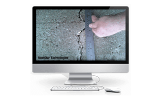 Concrete Crack Volume measurement for chemical usage during injection or repair