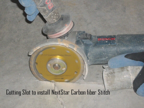 Carbon Fiber Grid Stitch Instalation for walls and floors