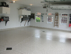 garage floor coatings with epoxy and polyaspartic in Grande Prairie Alberta
