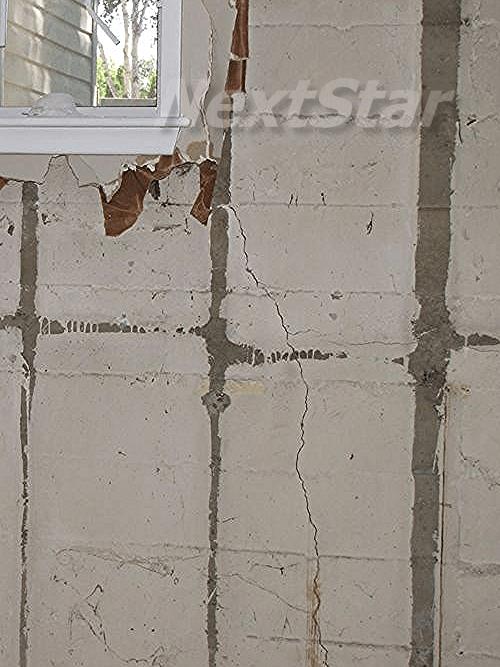 leaking crack from corner of window