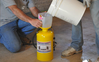Peraration of concentrate  pene seal crete for protction of radon gas and moisture vapor  in basements