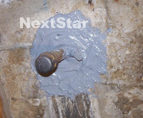 Concrete pipe leak repaired