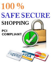 Site security with PCI Complianace paypal - visa -mastercard secure online shopping