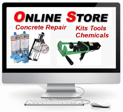 concrete crack repair products polyurethane and epoxy injection kits and supplies