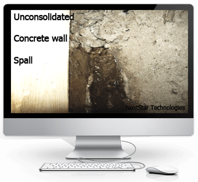 Flaws and holes in concrete foundation walls