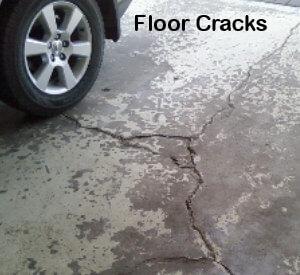 How to fix grage floor cracks
