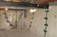 Concrete crack repair with injection systems of polyurethane and epoxy to waterproof basements